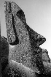 Easter Island stone carved figure