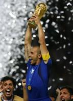 Cannavaro lifts the 2006 World Cup